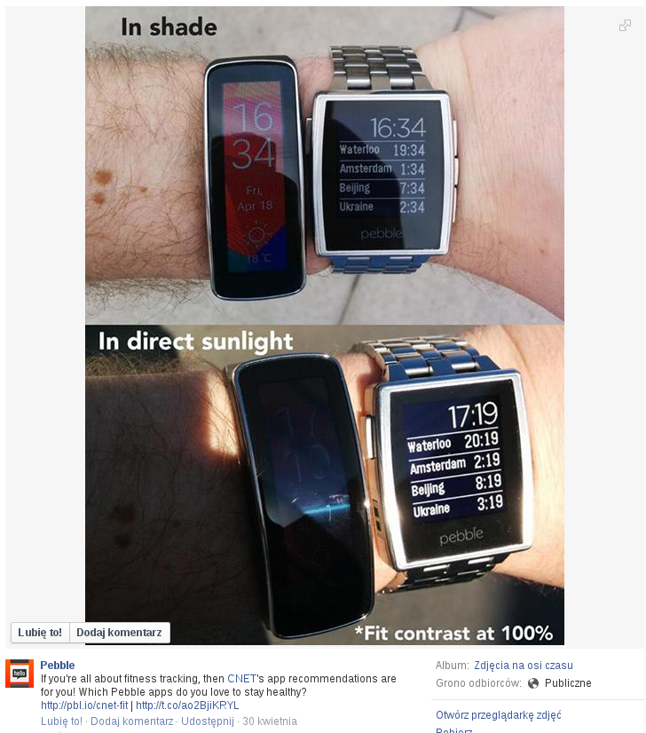 pebble facebook