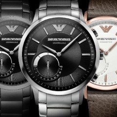 Emporio Armani wypuszcza swoją pierwszą kolekcję smartwatchy hybrydowych